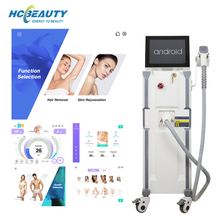 New 3 wavelength smart Android screen diode laser hair removal beauty machine for sale