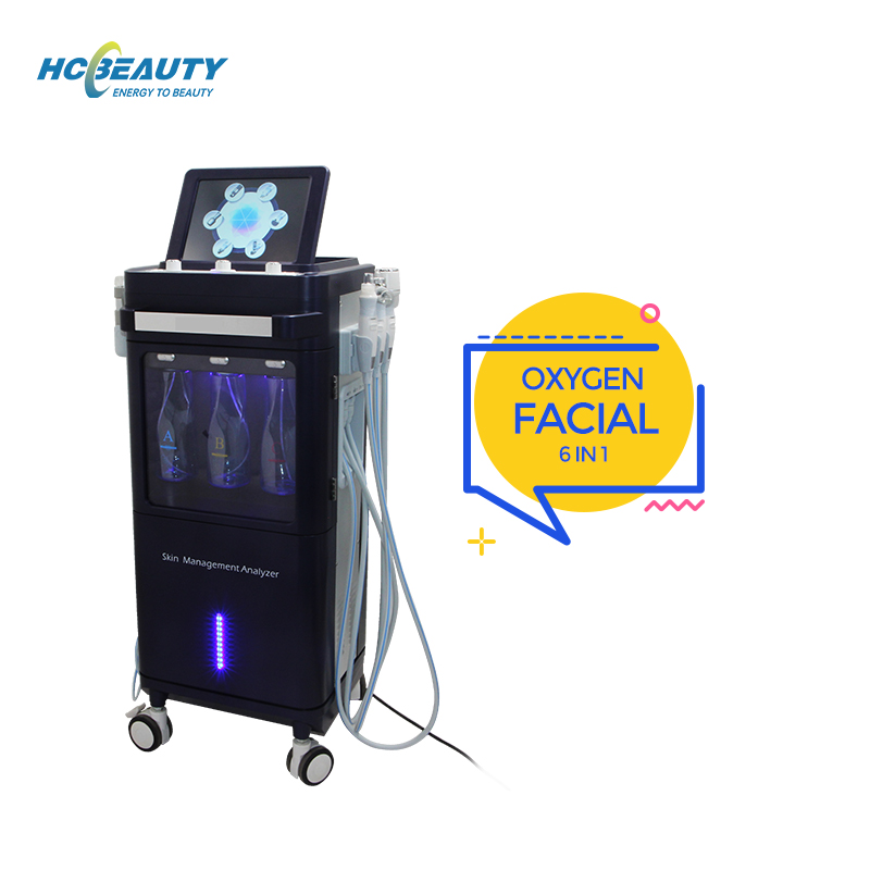 Intelligent temperature control skin rejuvenation and moisturizing oxygen facial machine for all kinds of people